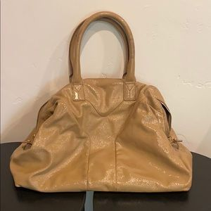 """YSL """"Easy"""" nude patent leather bag *AUTHENTIC*"""